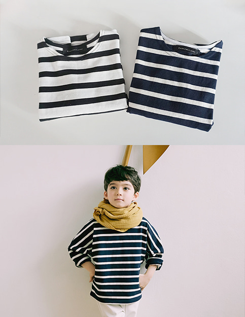 cozy stripe tee(2color)